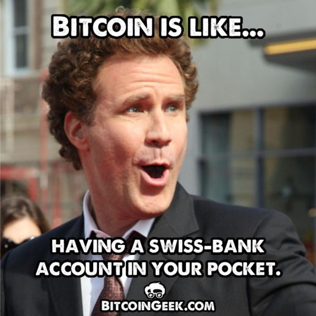 cryptocurrencies are like having a swiss bank account in your pocket