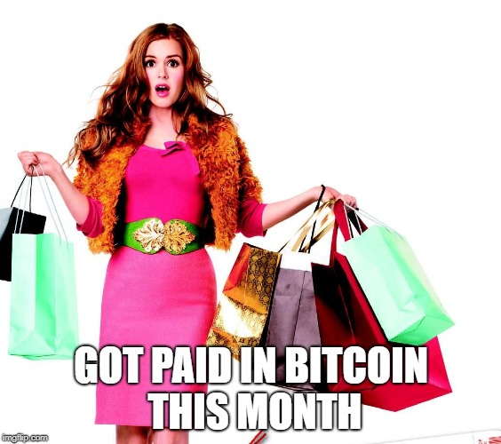 got paid in bitcoin this month